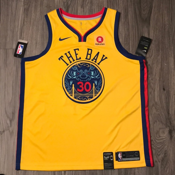 huge selection of 7da37 4270b Nike Steph Curry Authentic Chinese New Year Jersey NWT